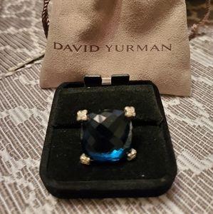 AUTHENTIC DAVID YURMAN LONDON BLUE TOPAZ RING SZ 6